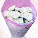 Rossy White Bouquet 12 Roses